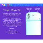 K-8  Digital Fridge Magnets - create own poetry